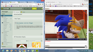 Watching Sonic Boom by tanlisette