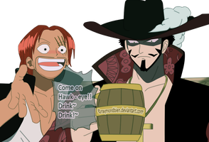 Shanks and Mihawk by raymondbien