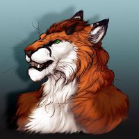 Modgey-portrait commission- by RogueLiger