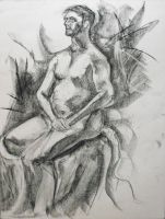 Nude Male Figure -seated- by Decopunk
