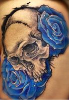 skull tattoo by Danyllex