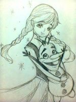 Frozen - Anna and Olaf by Charming-Manatee