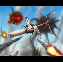 Yuffie in the skies by forsakenlight77