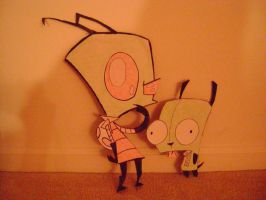 Invader Zim cardboard cut outs by risenstar1