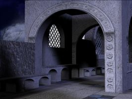 3D Background: Villa Archway by Sheona-Stock