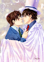 Let me steal your heart... - Shinichi x Kaito by Dusky-Rose