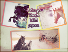 3 Horse Wallpapers by Mikkie33
