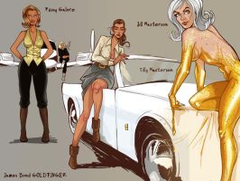 bond girls - goldfinger by masebi2