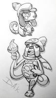 Smeargle pre-evo and evolution by El-Dark-Core