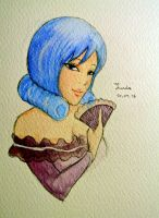 Juvia in watercolor by moko212