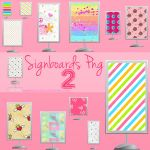 30 Signboards PNG - 2 by NyaAkemiChan