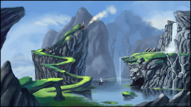 Water and mountains and stuff... ! by LorDeimos
