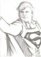 Superman sketchcard by idirt