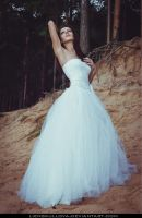 STOCK - White Dress 03 (Look Up) by LienSkullova