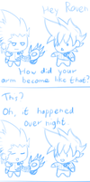 Mock Comic: Origin of Raven's Arm by Julien12826
