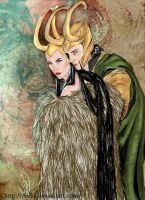 Lady Loki and Loki by Airlis