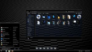 Windows 7 theme : Ebony v2 by JockHammer