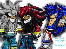 Shadow, Sonic, Silver by Mimy by Mimy92Sonadow