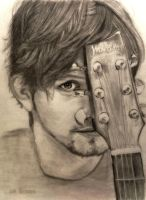 Jackson Rathbone and his Guitar by shuckaby