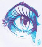 Purple Eye - Sharpie by GeeMassamArt