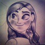 Pencil drawing Anna by smallbear5