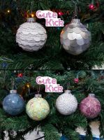Paper Covered Ornaments by cutekick