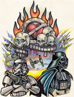 star wars tattoo by zombiebe10u