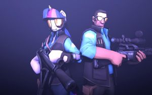 A Pair of Sharpshooters-BLU Edition by NMaster90