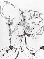 Soraka Lineart by A-Killer-Artist