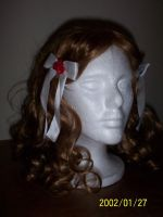 White Twin Ribbons 2 by WildRoseWorkshop