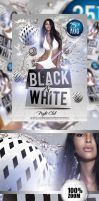 Black And White Party Flyer by caniseeu