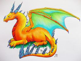Copic Dragon by DragonThemes
