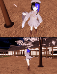 As Cherry Blossoms Dissolve into The Night by kokorohane
