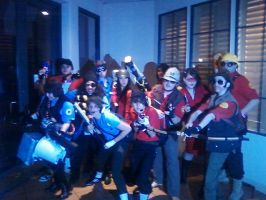 tf2 group cosplay sac anime 2 by j3nNj3nNy