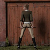 Riding School (clothed version) by phues1