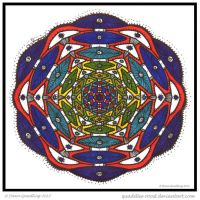 Rainbow Mandala Collab by Quaddles-Roost
