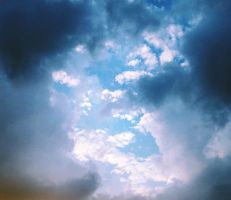 Clouds Stock Blue by Aenea-Jones