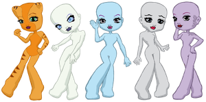 Monster High Chibi Bases 2 by Fairytopiasenshi