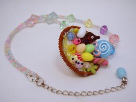 Micro Easter Basket Necklace by PoniesOfDOOOM