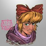 Morning Warm up Portrait 003: Nyneve by KidiMaster