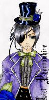 Ciel Phantomhive bookmark by Sardiini