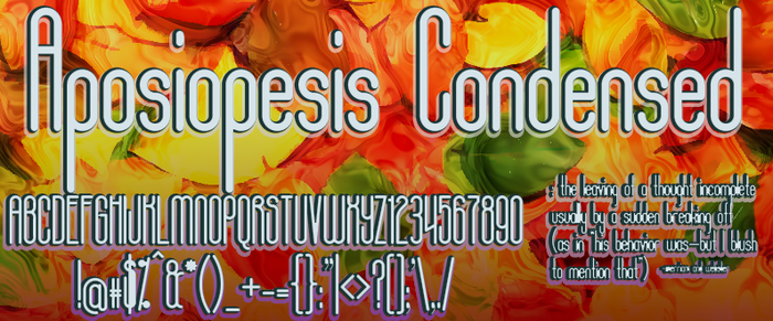 Aposiopesis Condensed by dondon-nillo