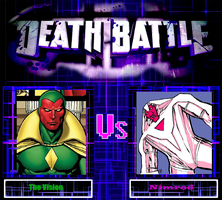 Death Battle The Vision vs Nimrod by Shadowstalker55