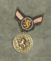 Gray and Gold Lion Cthulhu War Medal 2 by Windthin