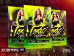Toxic Night v2 Party Flyer Template by pawlowskiart