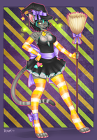 Halloween Adoptable - Witch by Roum