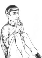 Contemplating Spock (Lineart) by SherlockianHound