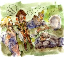 FF8 watercolour by ValyChan