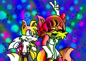 Tails and Fiona Dance by ncond3