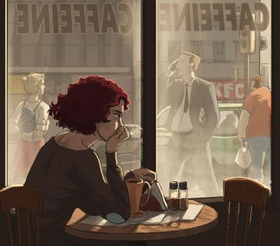 Waiting for nothing to happen by AriaDog